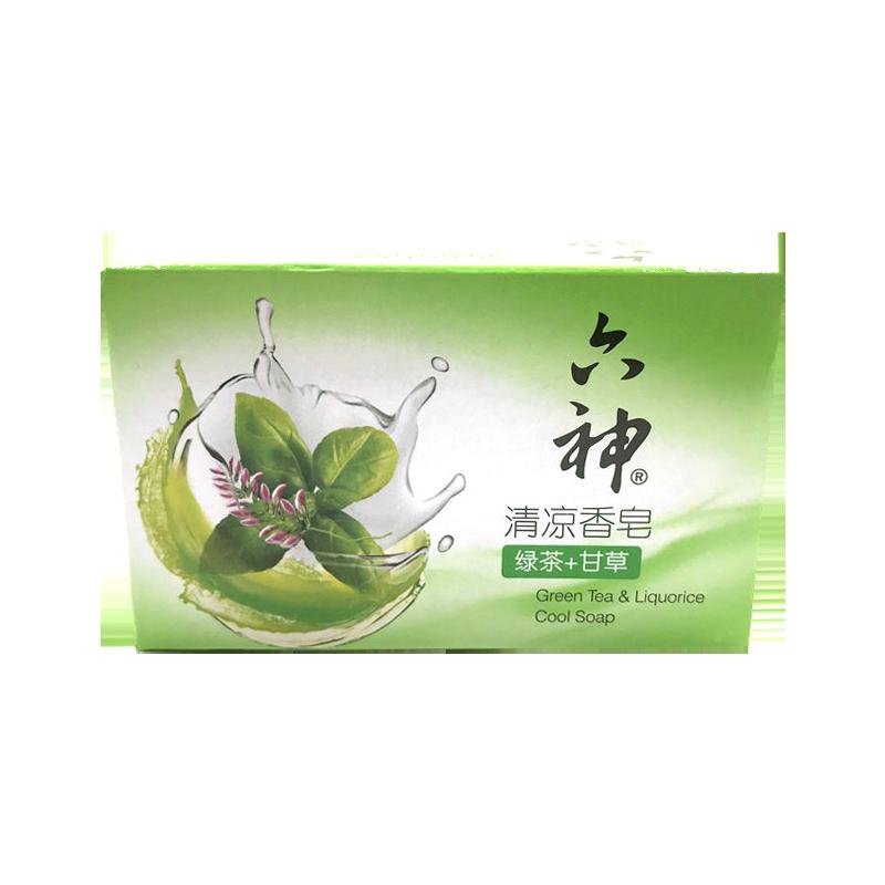 六神清凉香皂绿茶+甘草